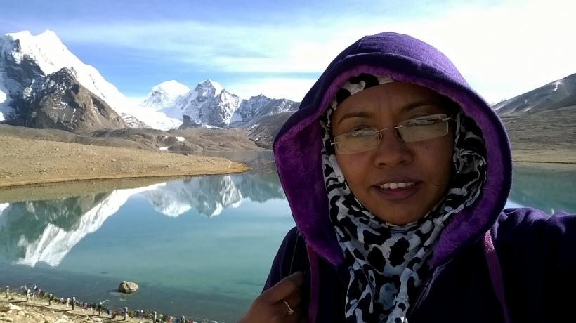 Selfie, Lumia 540, Gurudongmar, lake, north sikkim
